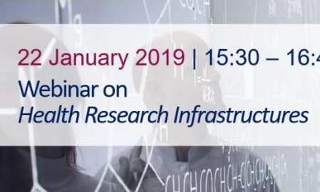 Webinar on Health Research Infrastructures - 22 January 2019