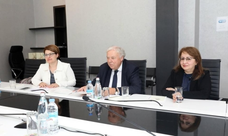 Meeting with Dr. Inga Dadeshidze and Ms. Katalin Alföldi, two COST Representatives who took part in the COST Info Day in Tbilisi