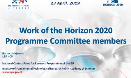 EaP Plus Webinar 9 –Work of the H2020 Programme Committee members (Apr 23, 2019) – presentations
